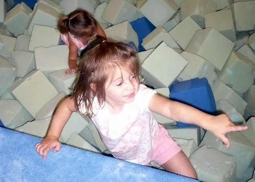"Alana in the ""pit"" at her birthday party"