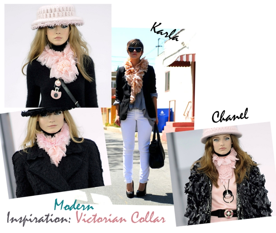 Love Maegan DIY Chanel ruffle scarf inspiration