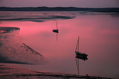 Calm (mind the goat) Tags: uk pink sunset sea west reflection silhouette boat mud dusk south calm estuary devon mast top20waterpix appledore