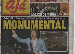 Peru Press - Up and Coming Tour