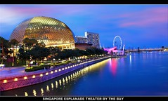 SINGAPORE ESPLANADE Theater (Kenny Teo (zoompict)) Tags: building water wonderful photo yahoo waterfront view walk wave tourist esplanade singaporeriver esplanadesingapore