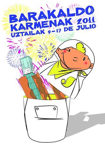 Cartel 8. Concurso Carteles de Fiestas de Barakaldo 2011