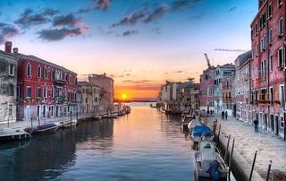 The Setting Sun - (Venice, Italy)