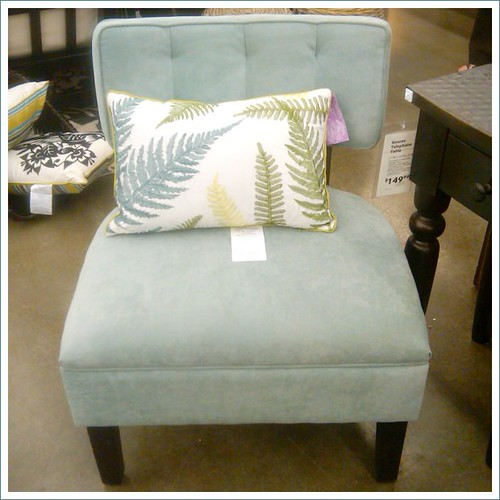 world market blue chair