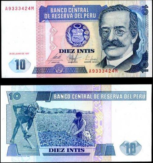 10 Intis Peru 1987, Pick 129