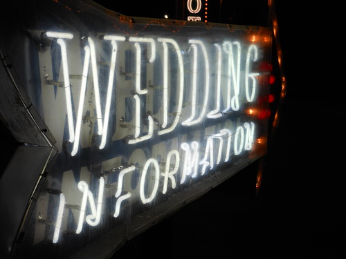 Wedding Information Neon