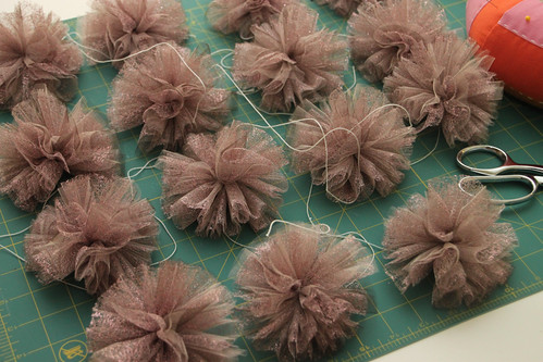 Pom Poms. In Progress