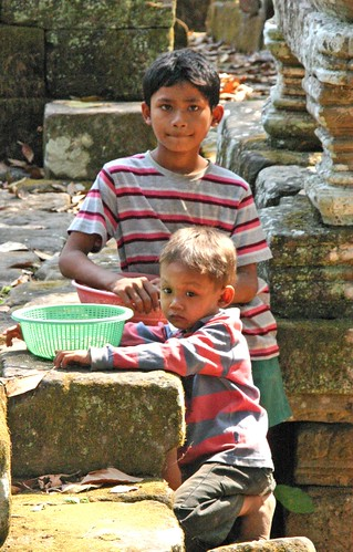 Kids Selling Souvenirs at Angkor