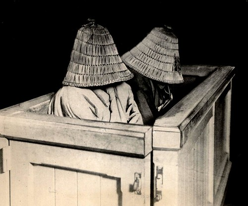 GEISHA GIRLS GONE BAD ? -- Two Japanese Women Hiding Their Faces in the Docket of a Tokyo Courtroom. by Okinawa Soba