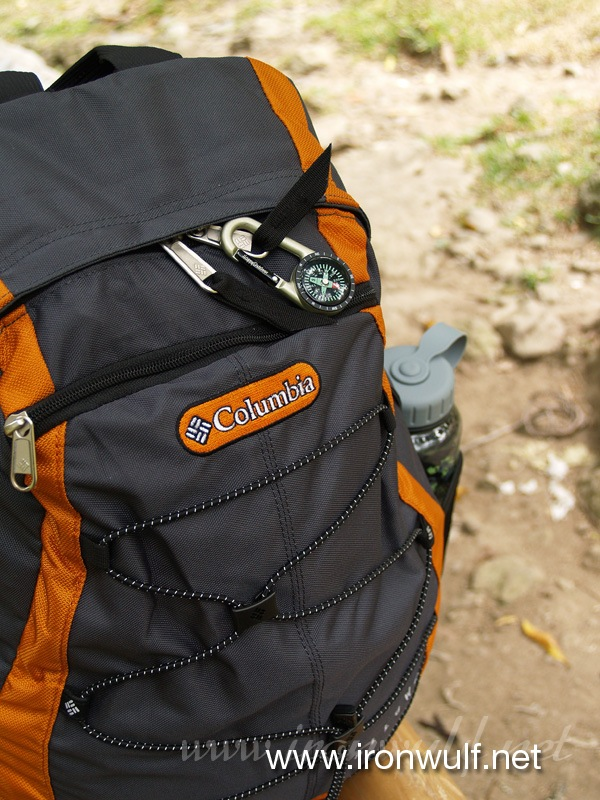 My Columbia Wallowa Pack and Water Bottle on the side