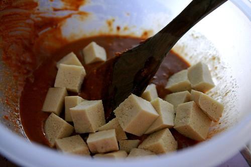 BBQ Tofu prep