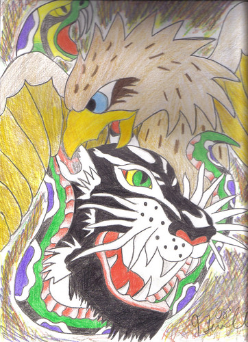 old school tattoo art. this was inspired by ed hardy i just liked how it looked so i drew it up real fast