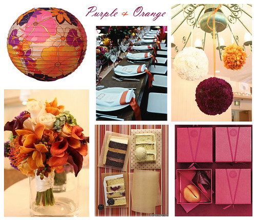 Orange and Purple Wedding Here 39s a great color palette for your wedding