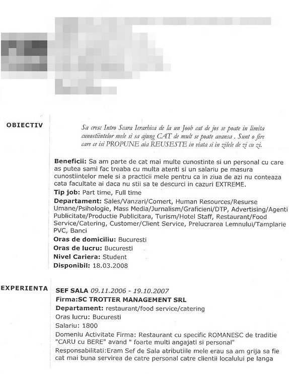 Curriculum vitae pt angajare  paper writing companies