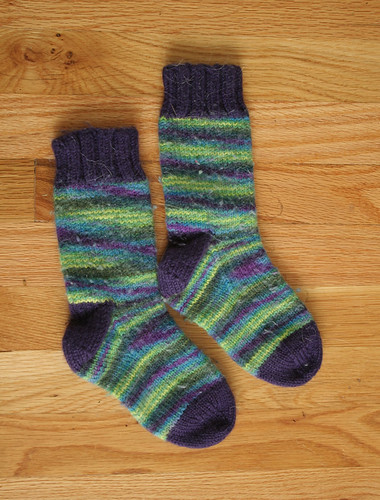 itty bitty felted first socks