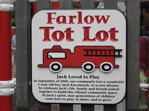Farlow Park Tot Lot Dedication