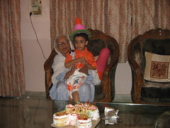 sharan's b'day (vikas vaid) Tags: birthday grandmother delhi grandson peshawar vaishnodevi mataji vaid sharanvaid