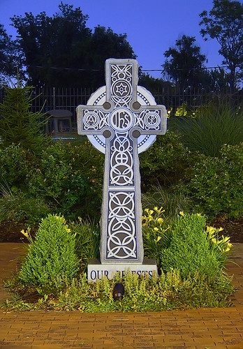 Saint James the Greater Roman Catholic Church, in Saint Louis, Missouri, USA - Celtic cross