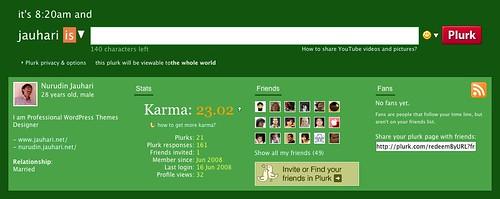 Plurk Profile Page