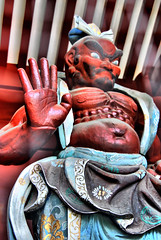 NIO, a duo for guards of the Buddha (heiwa4126) Tags: statue japan geotagged tokyo hdr hdri effigy nio shibapark tonemapped nikond80 enfuse heiwa4126 dynamicphotohdr geo:lon=13974973 geo:lat=356561322 kongrikishi vajrapi