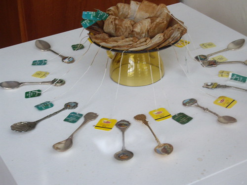 tea bags and tea spoons