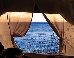 Maffaccio alla finestra, e vedo il mare.. (Giuseppe Suaria) Tags: sea mare tent greece grecia paxos tenda mywinners aplusphoto theunforgettablepictures