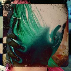 253/365: Mix tape (chalupabatman) Tags: portrait color art me self hair hand pop negative sp difference ear 365 365days