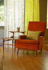 orange chair (Super*Junk) Tags: orange vintage chair furniture thrift corduroy
