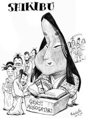 SHIKIBU, Murasaki (Morales de los Ros) Tags: writers caricaturas philosophers caricatures escritores filsofos