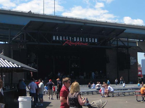 Empty Harley Davidson Stage
