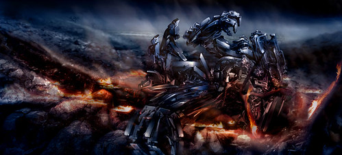 Transformers 2 concepto Decepticon volcan incinerator