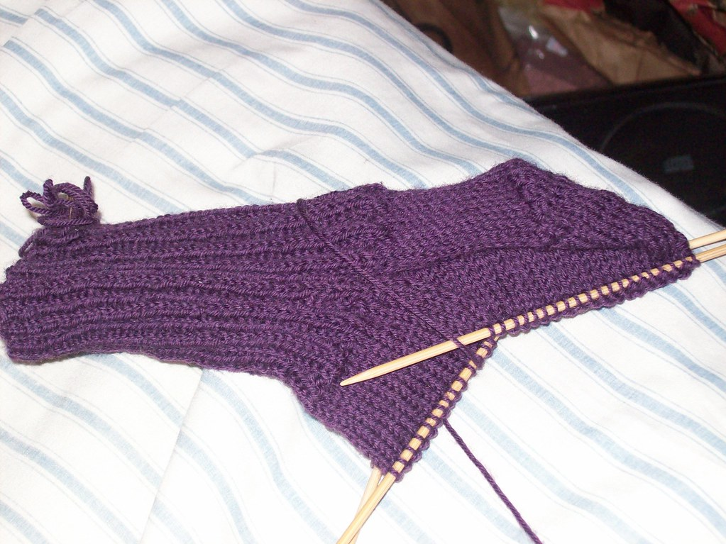 an unfinished sock