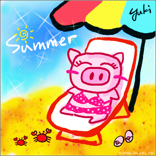 [手繪]*夏天。好想去海邊!