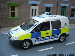 Code 3 Minichamps VW Caddy Hertfordshire Police Beat Van Front (alan215067code3models) Tags: 3 vw code police front beat van hertfordshire caddy minichamps alan215067