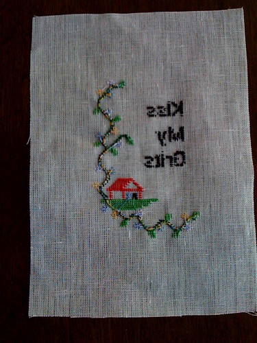 Back of cross stitch