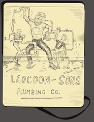 Laocoon and Sons plumbing company (godalwayshungry) Tags: pipes plumbing repair trojanhorse laocoon sons serpents