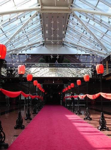 Die Lobby des Hotel Kempinski in Peking