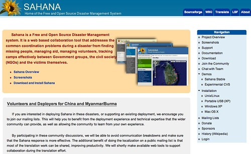 Sahana Open Source Disaster Management Software