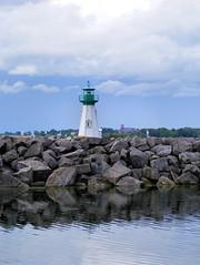 (brigitrose) Tags: lighthouse reflection stlawrenceriver sandraslawnharbourmarina
