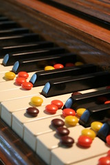 Eye Candy (All Things Treasured) Tags: music keys play candy sweet chocolate piano loveit reeses alwayscomment5