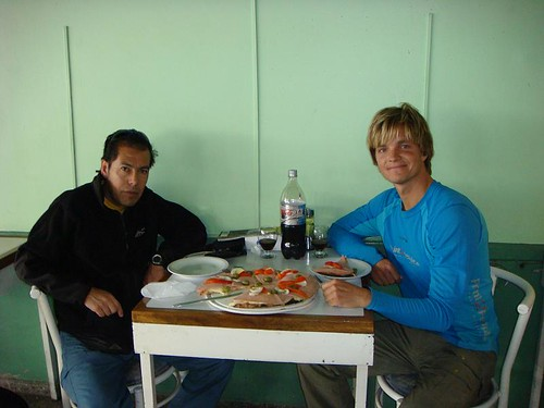 Pizza lunch with Juan in San Juan. Funny, innit?