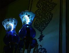Tomb of Shah Ne'mat-ol-lah Vali (yewco) Tags: blue lamp iran persia kerman mahan イラン ペルシャ shahnematollahvali ケルマーン シャー・ネエマオッラー・ヴァリー マーハーン