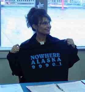 Sarah Palin Nowhere T-shirt