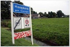 Hoogkerk, gemeente Groningen (Dit is Suzanne) Tags: panorama netherlands view nederland uitzicht groningen  plaatsnaambord hoogkerk views300 img6773 leegeweg  ditissuzanne canoneos40d sigma18125mm13556  03092008 geo:lat=53228883 geo:lon=649808
