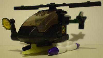 Angle view of The Joker Helicopter