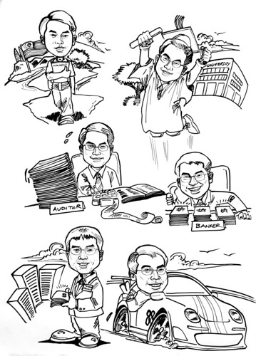 Caricatures for Affinity Equity Partners ink