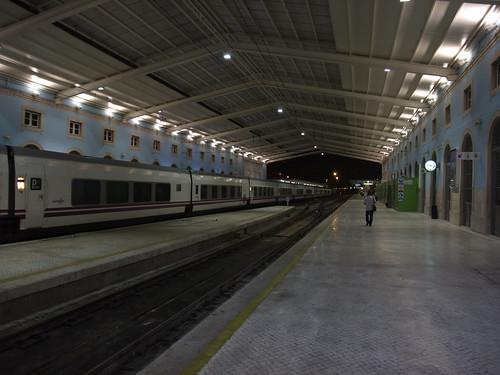 O comboio que vai para Madrid