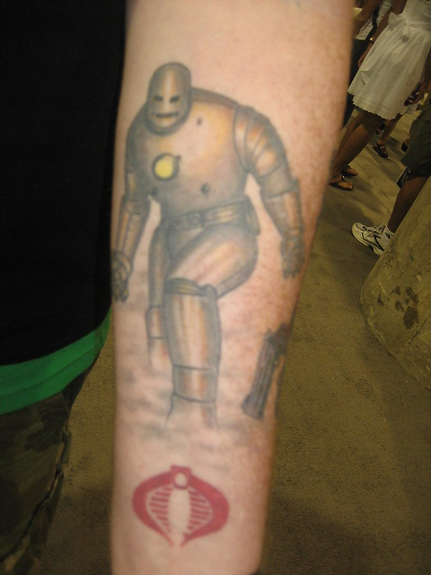 Iron Man tattoo with Cobra