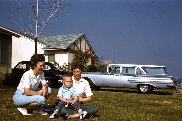 california family chevrolet car vintage automobile slide chevy impala 1961 brea stationwagon