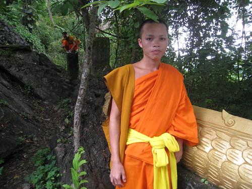 A monk in Luang Prabang